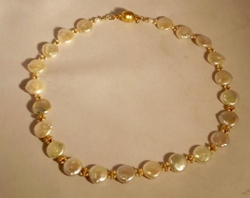 #2226  Coin Pearl Necklace