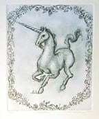 """Unicorn"" Etching #144"