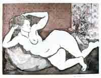"""Reclining Figure"" Etching #109"