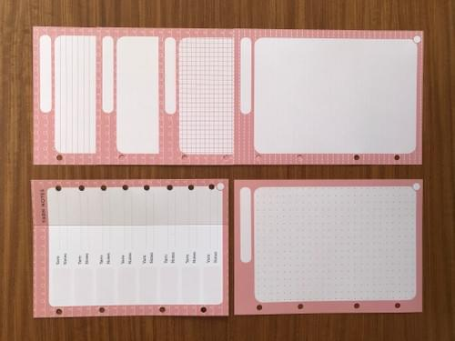 Extra paper - Pink section