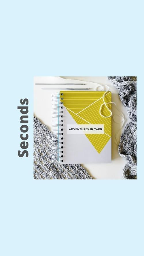 Second - Adventures in Yarn A5 wire bound notebook