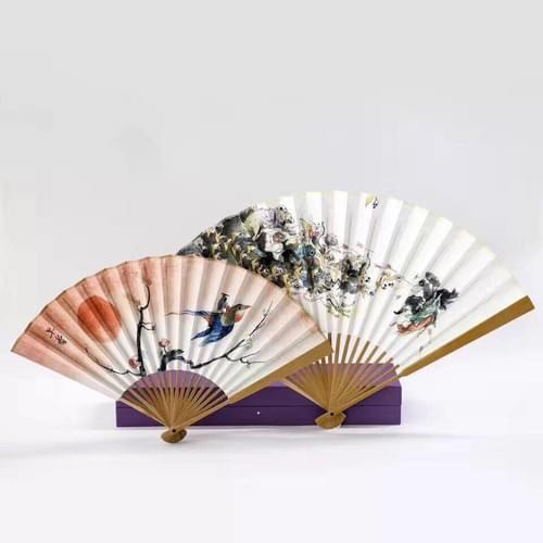 Zao Dao's Hand-made Folding Fan 傳統手工折扇 (Pair)
