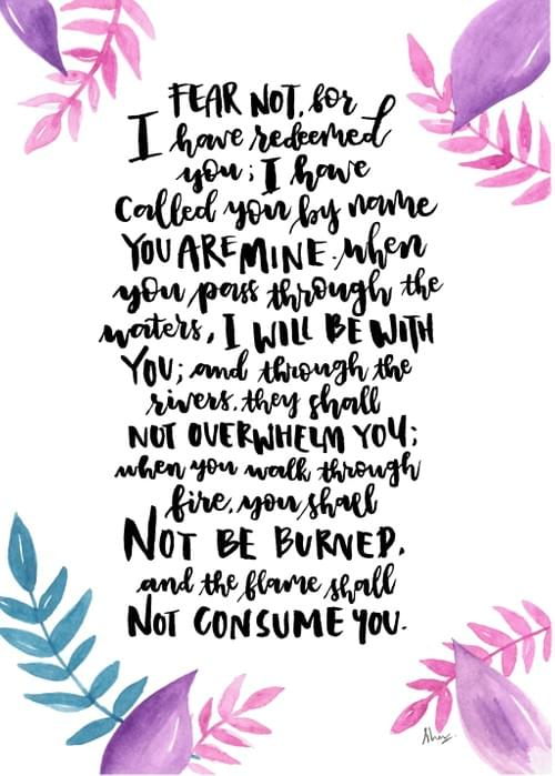 Isaiah 43:1b-2 Painting