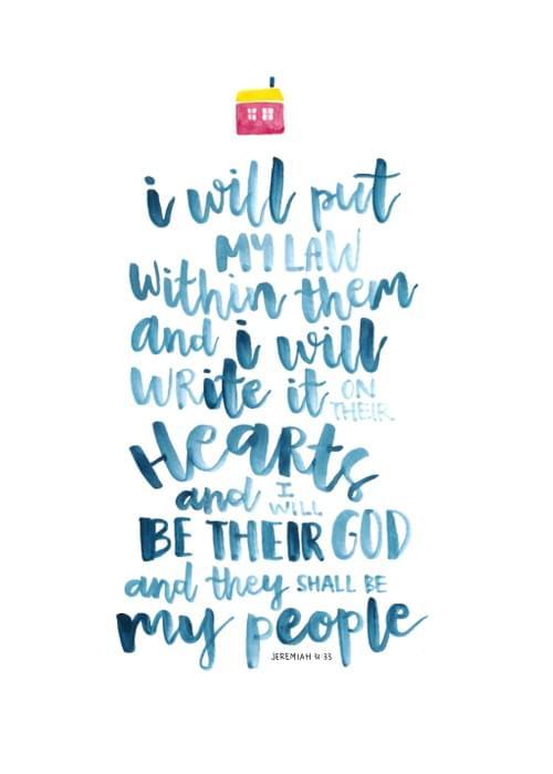 Jeremiah 31:33 Painting