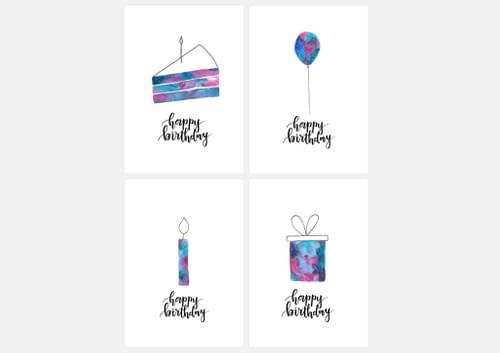 Happy Birthday Postcard Set