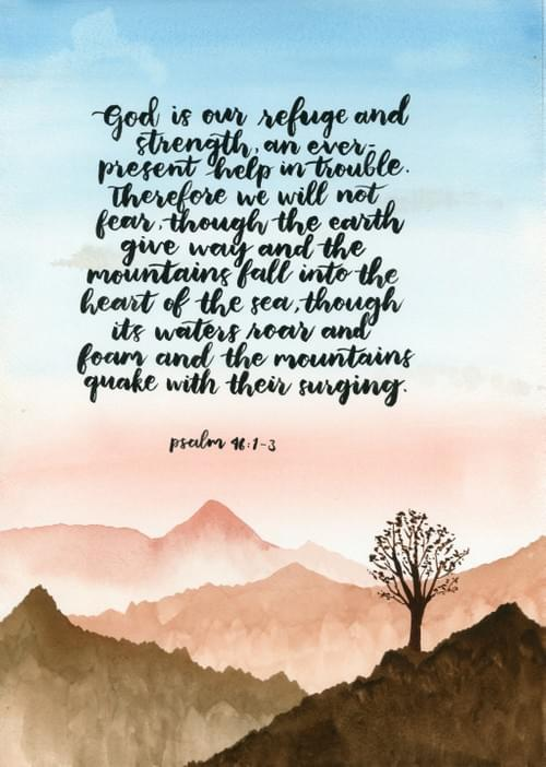 Psalm 46:1-3 Painting