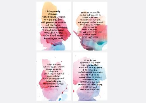 Theme of Joy Postcard Set