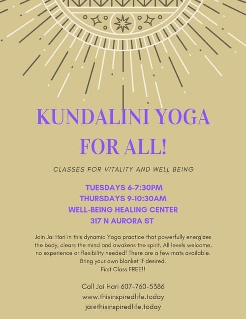 Kundalini Yoga in Ithaca - DROP IN