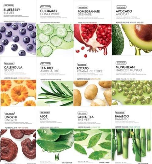 [The Face Shop] Real Nature Maske - Kennenlernset (12 Masken)