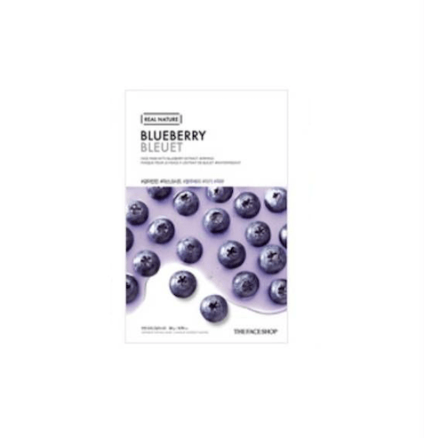 [The Face Shop] Real Nature Maske - Blueberry