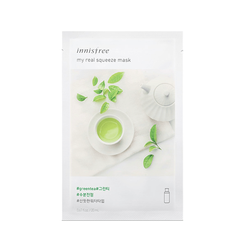 [Innisfree] My real Squeeze Maske (New Version) - Grüner Tea