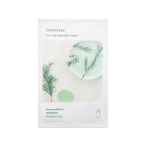 [Innisfree] My real Squeeze Maske (New Version) - Tea Tree