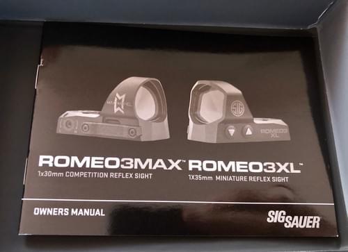 SIG SAUER ROMEO 3 MAX
