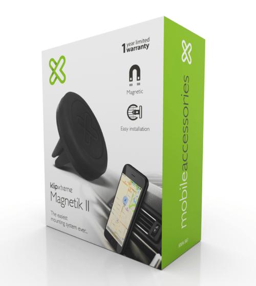 Klip Xtreme Magnetik II - Soporte magnético de celular para auto