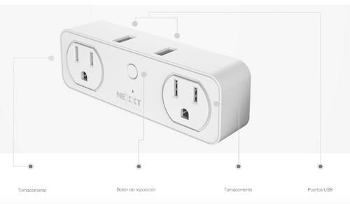 Enchufe Wifi 2 Tomas y 2 USB - NEXXT Solutions