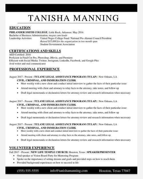 Professional Resume
