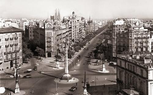 Diagonal / Paseo de Gracia, 1936