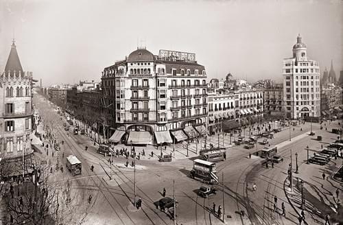 Ronda San Pedro / Plaza Catalunya, años 20