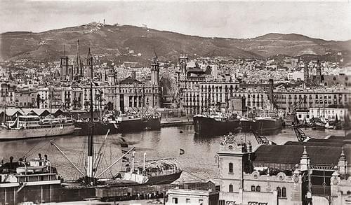 Puerto y Vía Layetana, años 20