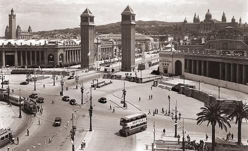 Plaza España, Barcelona, 40ies