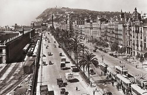 Paseo Colón / Montjuich, años 40/50