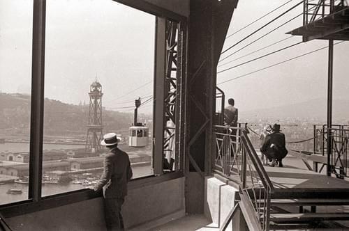 Teleférico torre San Sebastián, años 20