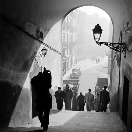 Arco de Cuchilleros de la Plaza Mayor - Madrid 1950