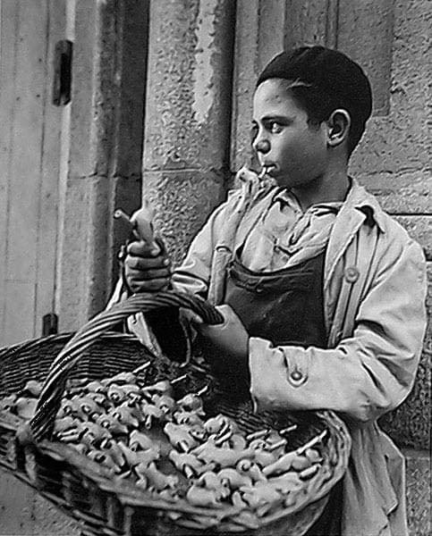 F. Català-Roca, Vendedor flautas de pájaros trinadores