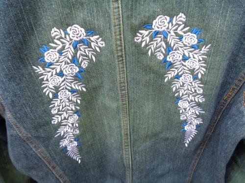 Women's Large embroidered Jean  Blazer
