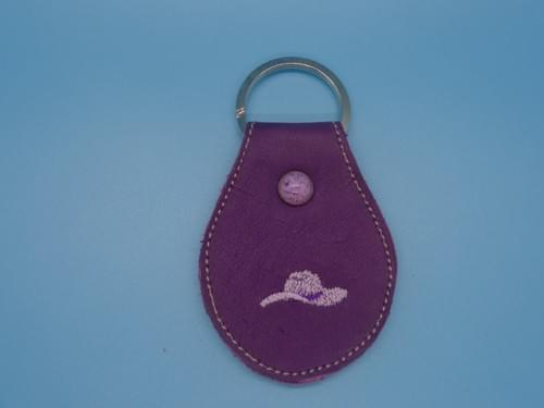 Leather key chain.