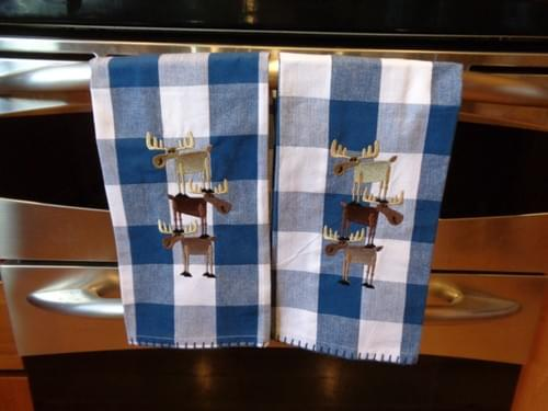 Moose kitchen towels.