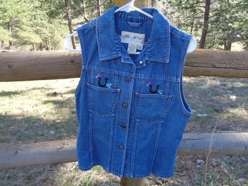 Ladies Jean Vest