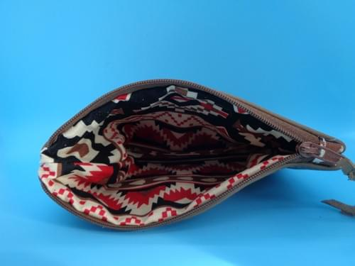 Small leather pouch with horse.