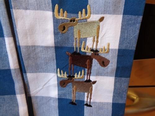 Moose kitchen towels.