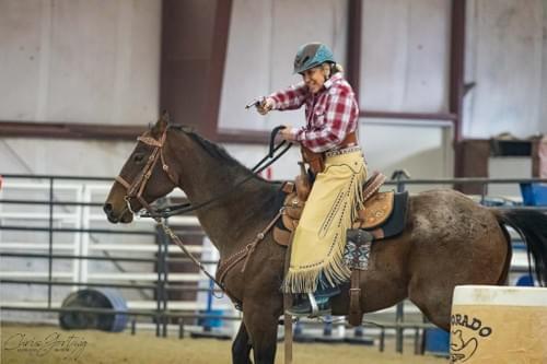 Back cinch saddle bag.