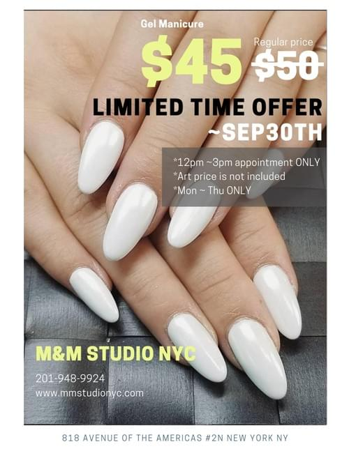 $45 Gel Manicure Ticket  (Regular price $50)