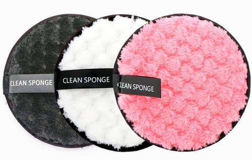 MICROFIBRE ECO WASHABLE MAKEUP REMOVER PADS (3 per set)