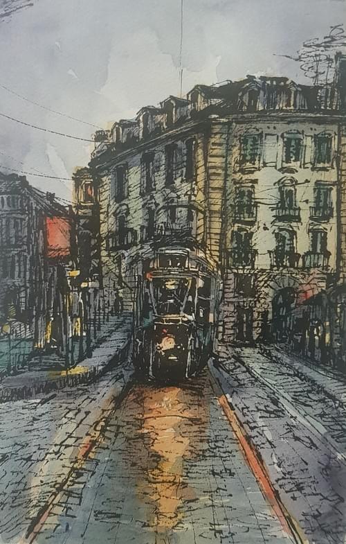 Urbanscapes - Torino - Piazza Castello with Tram