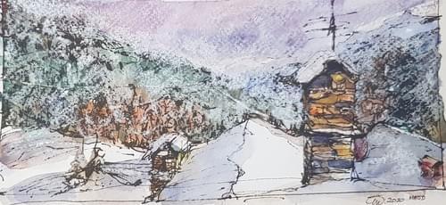 Meod (St. Pierre) - Tetti d'inverno