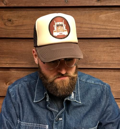 Brown & Tan hat with Truck Patch.