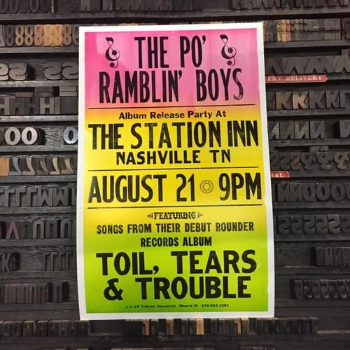 Station Inn CD release party poster!