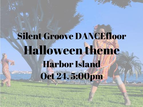 Oct 24, 5pm, Harbor Island Park - Halloween theme - Silent Groove DANCEfloor experience
