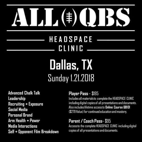 HEADSPACE Clinic - Dallas, TX - Sun 1/21/2018