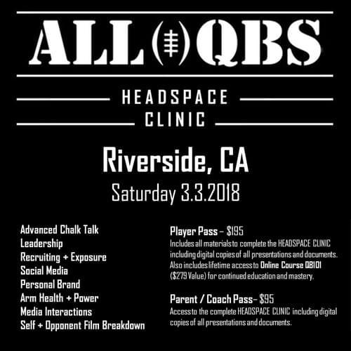 HEADSPACE Clinic - Riverside, CA - Sat 3/3/2018