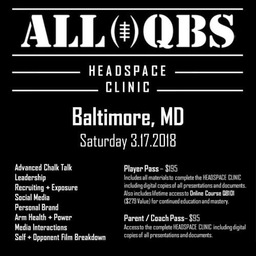 HEADSPACE Clinic - Baltimore, MD - Sat 3/17/2018