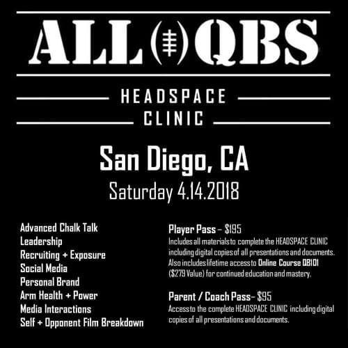 HEADSPACE Clinic - San Diego, CA - Sat 4/14/2018