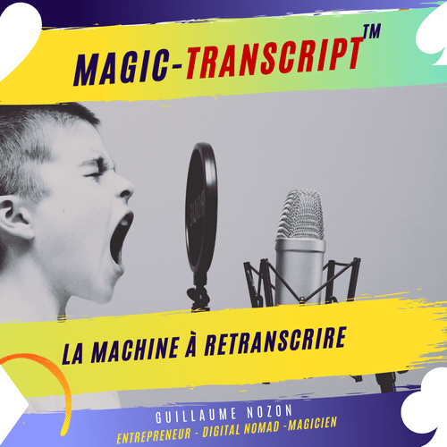 MAGIC-TRANSCRIPT - Tarif Pré-Commande.