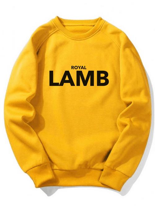 (YELLOW) Royal Lamb Crew Neck