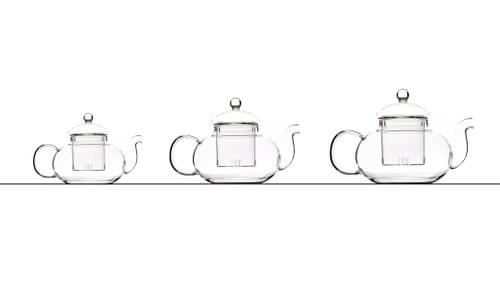 Teapot all glass from 400ml to 1lt