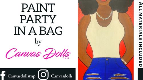 Denim & Diamonds Paint Party Kit